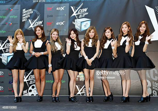 Girls Generation attend KCON 2014 at the Los Angeles Memorial Sports Arena on August 10 2014 in Los Angeles California