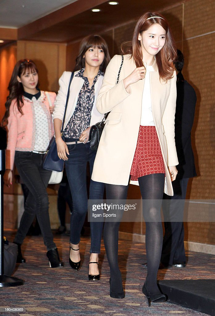 Girls' Generation attend Sun's Wedding at lotte hotel on January 26, 2013 in Seoul, South Korea.