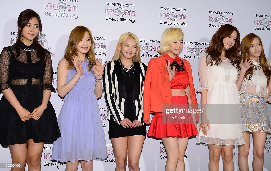 Girls' Generation attend the SM '10 Corso Como Seoul Melody' Launch Party on March 28, 2013 in Seoul, South Korea.