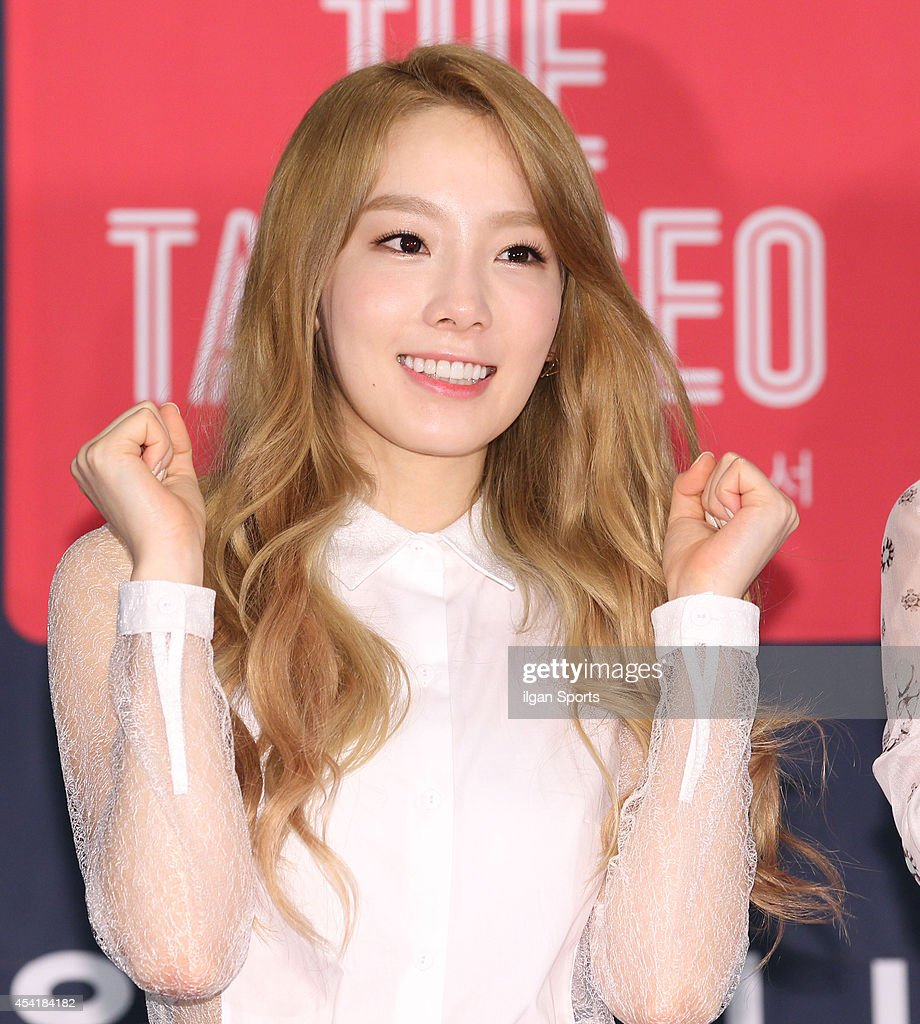 Girls' Generation-TTS attend the OnStyle 'The TaeTiSeo' press conference at CJ E&M center on August 22, 2014 in Seoul, South Korea.