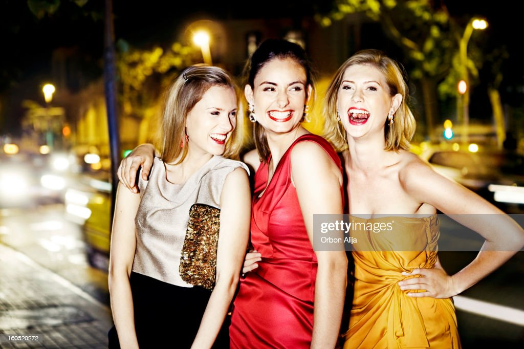 Girls going out : Stock Photo