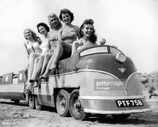Girls have fun on the miniature train From left Delyse Humphreys Sheila McGaffigan Dianne Coltman Patricia McHugh and Roberta Brown