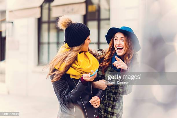 Girls having fun in Paris
