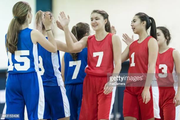 Girls high school volleyball team