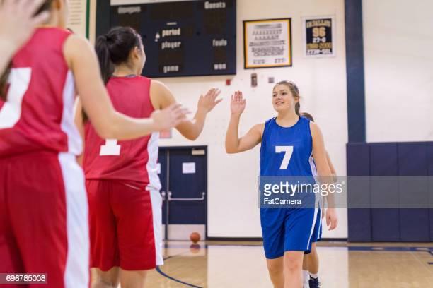Mädchen-High School-Volleyball-team