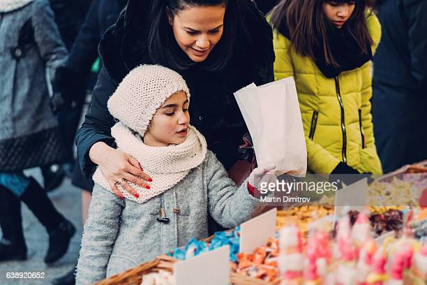 Girls in the candy shop