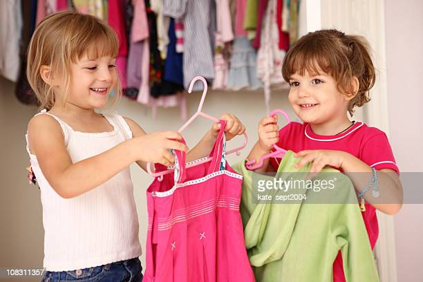 Girls in wardrobe