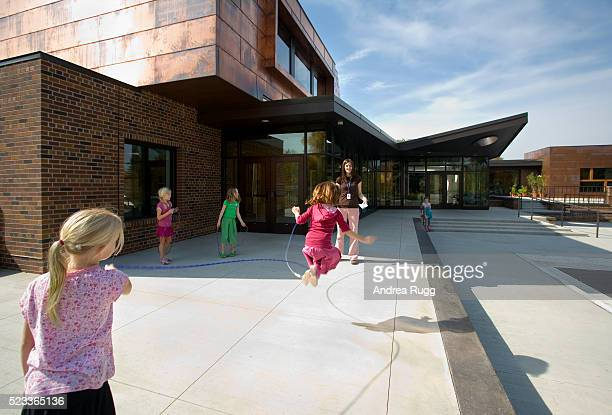 Girls Jumping Rope Outside Blake School
