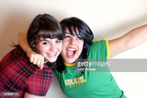 Girls of Brazil Vibrating : Stock Photo