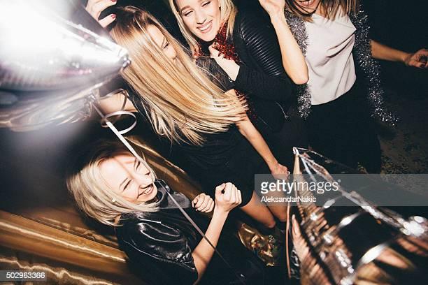 Girls on a dance floor