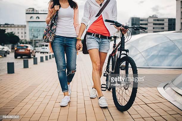 Girls on a leisure walk