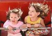 Girls on coaster