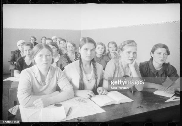 Girls on lections circa 1940