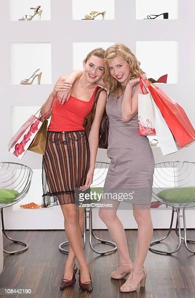 Girls on shopping tour
