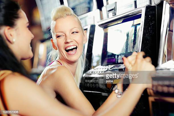 girls playing in the casino