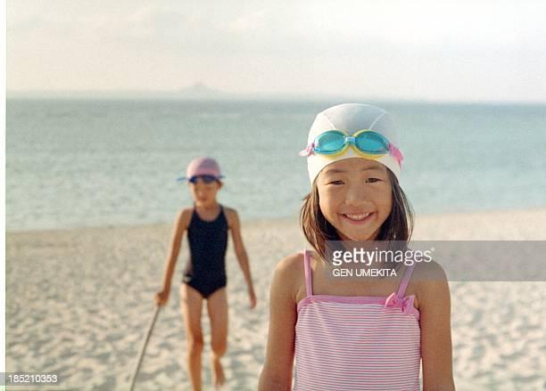 Girls portrait on the beach