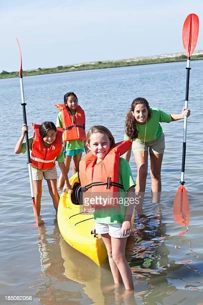 Girls ready for kayaking