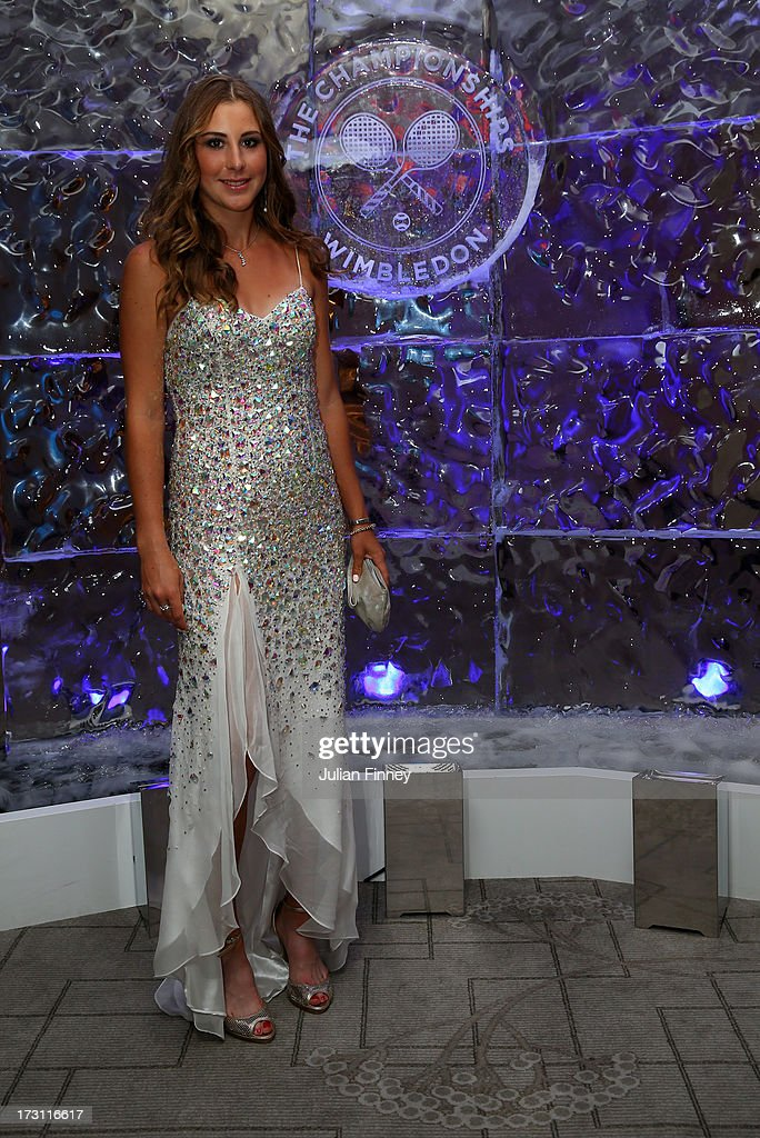 Girls' Singles Champion, Belinda Bencic of Switzerland attends the Wimbledon Championships 2013 Winners Ball at InterContinental Park Lane Hotel on July 7, 2013 in London, England.