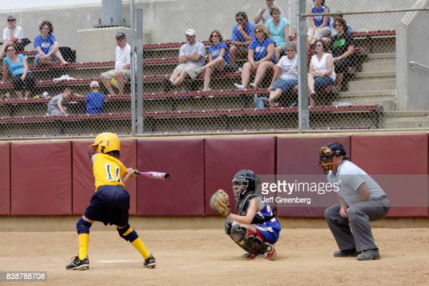 A girls softball game at Moyer Sports Complex