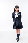 A girls student in a sailor suit