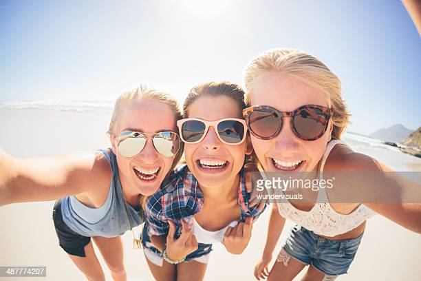 Girls taking a selfe