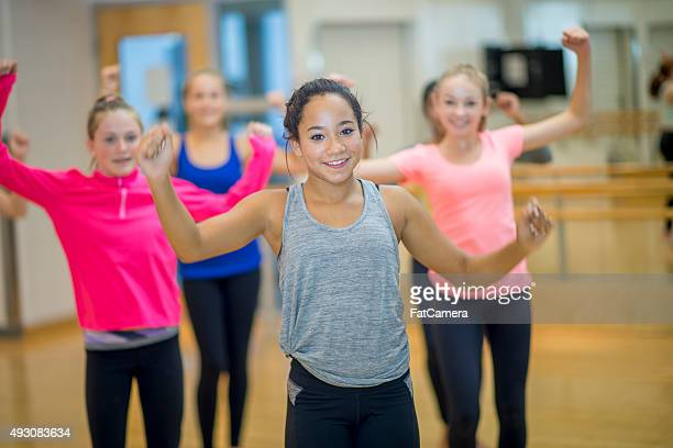 Girls Taking a Zumba Fitness at the Gym