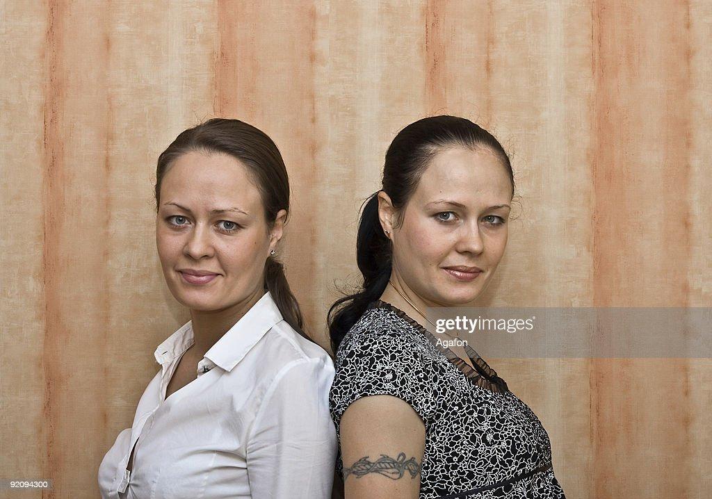 Girls Twins : Stockfoto