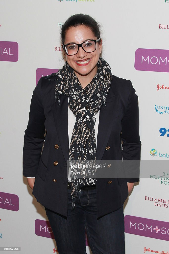 Girls Who Code founder Reshma Saujani attends the Mom + Social Event at the 92Y Tribeca on May 8, 2013 in New York City.