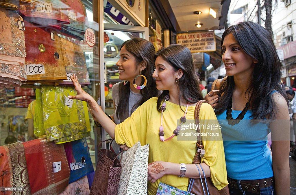 Girls window shopping