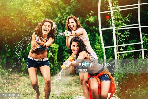 Girls with quirt guns