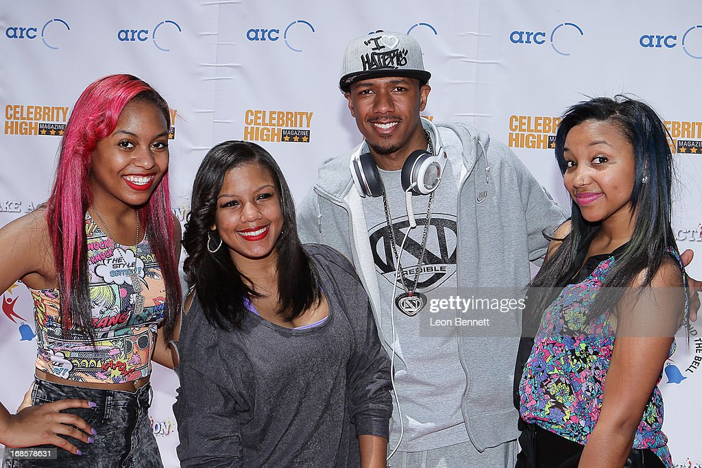 OMG Girlz and <a gi-track='captionPersonalityLinkClicked' href=/galleries/search?phrase=Nick+Cannon&family=editorial&specificpeople=202208 ng-click='$event.stopPropagation()'>Nick Cannon</a> arrived at LAUSD's Beyond The Bell Branch And <a gi-track='captionPersonalityLinkClicked' href=/galleries/search?phrase=Nick+Cannon&family=editorial&specificpeople=202208 ng-click='$event.stopPropagation()'>Nick Cannon</a>s Celebrity High Present 'Spotlight On Success' at Paramount Studios on May 11, 2013 in Hollywood, California.