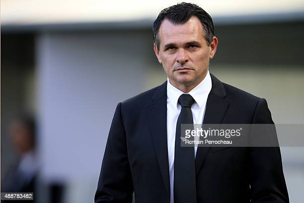 Girondins de Bordeaux head coach Willy Sagnol before the Europa League game between FC Girondins de Bordeaux and Liverpool FC at Matmut Atlantique...