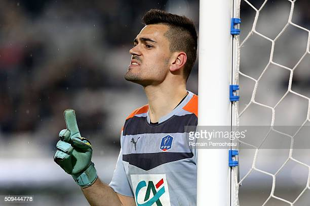 Girondins de Bordeaux's goalkeeper Jerome Prior looks on during the French Cup match between FC Girondins de Bordeaux and FC Nantes at Stade Matmut...