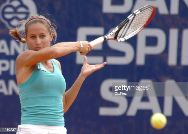 Gisela Dulk in action against Zi Yan during the first round of the 2006 Estoril Open at the Estadio Nacional in Estoril Portugal on May 2 2006