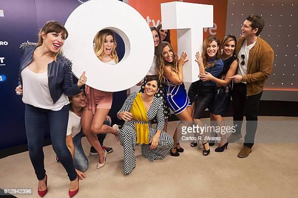 Gisela Javian Natalia Rosa Lopez Mireia Montavez Nuria Fergo Veronica Romeo Geno Machado Chenoa and Manu Tenorio attend 'OT 1 El Reencuentro'...
