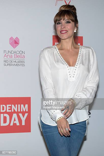 Gisela Llado poses during a photocall for Guess denim day on May 3 2016 in Barcelona Spain