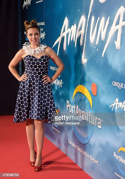 Gisela Llado poses during a photocall for the premiere of 'Amaluna' show by Cirque Du Soleil at Portaventura theme park on July 2 2015 in Tarragona...