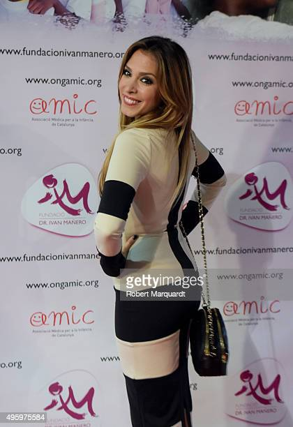 Gisela Llado poses during a photocall for 'Un Lapiz No Escribe Sin Una Mano' charity dinner event at the Qgat restaurant on November 5 2015 in...