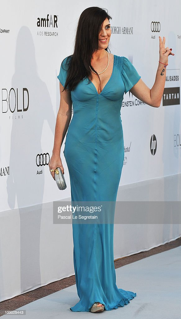 Gisela Marengo arrives at amfAR's Cinema Against AIDS 2010 benefit gala at the Hotel du Cap on May 20 2010 in Antibes France