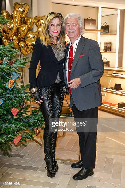 Gisela Muth and HansGeorg Muth attend the Mulberry Store Opening on November 27 2014 in Frankfurt am Main Germany