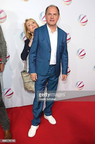 Gisela Schneeberger and Uwe Ochsenknecht during the premiere of the film 'Die Udo Honig Story' at Gloria Palast in Munich on September 1 2015 in...