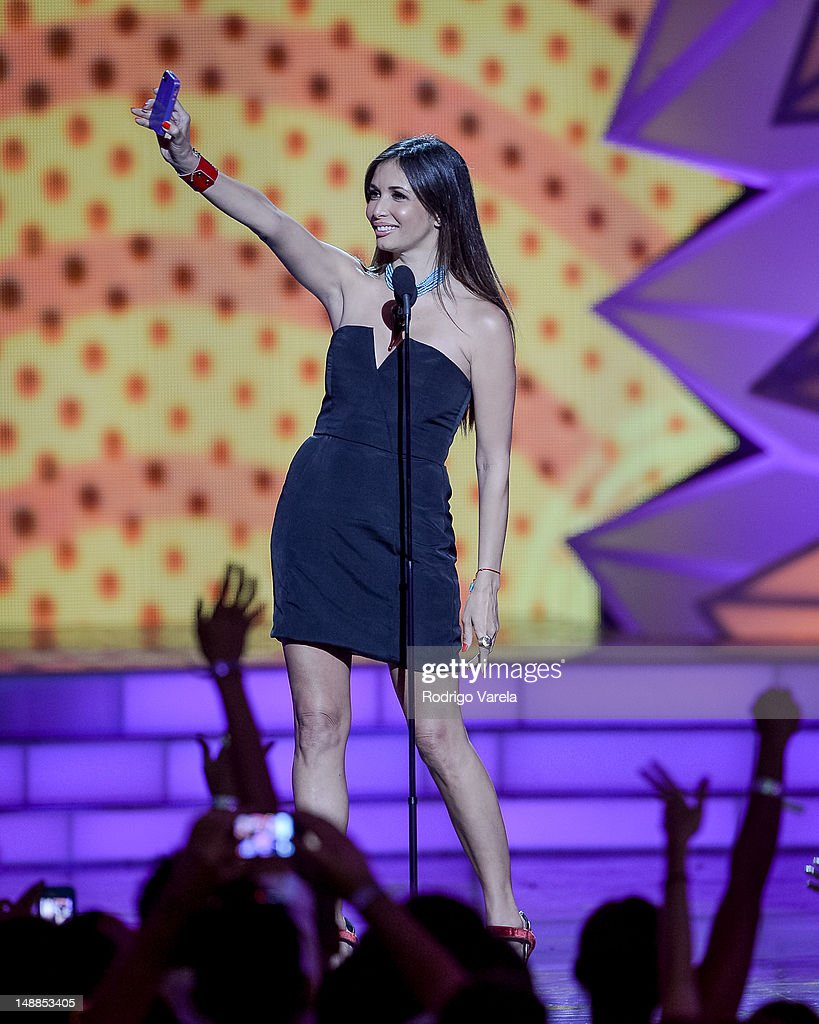 Gisele Blondet onstage during the Univision's Premios Juventud Awards at Bank United Center on July 19, 2012 in Miami, Florida.