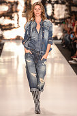 Gisele Bndchen walks the runway at the Colcci fashion show during Sao Paulo Fashion Week Winter 2015 at Parque Candido Portinari on November 4 2014...