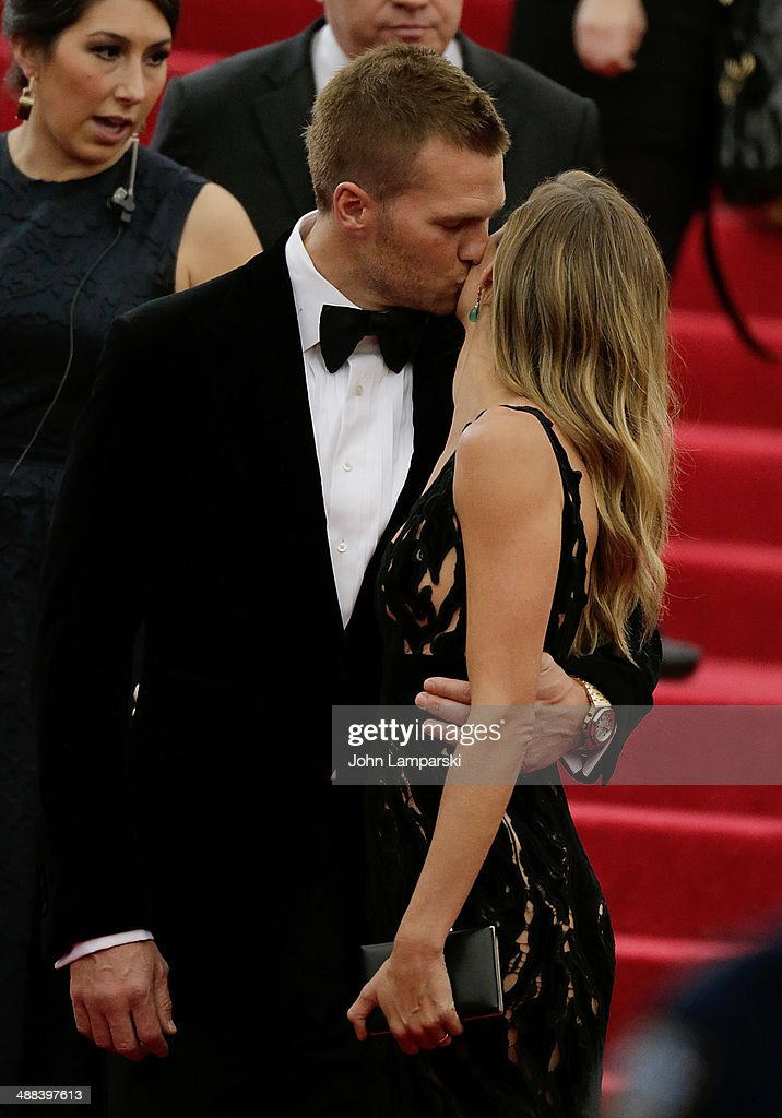 Gisele Bundchen and Tom Brady and attend the 'Charles James: Beyond Fashion' Costume Institute Gala at the Metropolitan Museum of Art on May 5, 2014 in New York City.