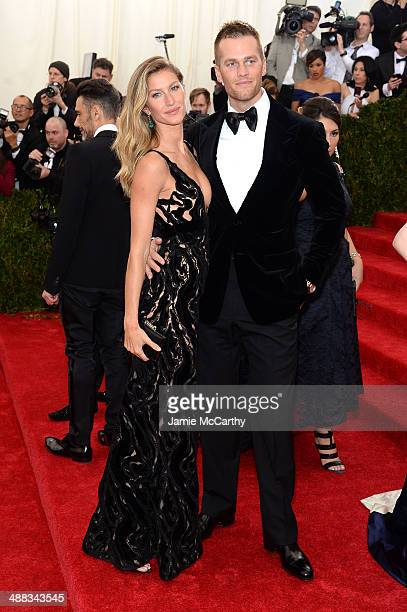 Gisele Bundchen and Tom Brady attend the 'Charles James Beyond Fashion' Costume Institute Gala at the Metropolitan Museum of Art on May 5 2014 in New...