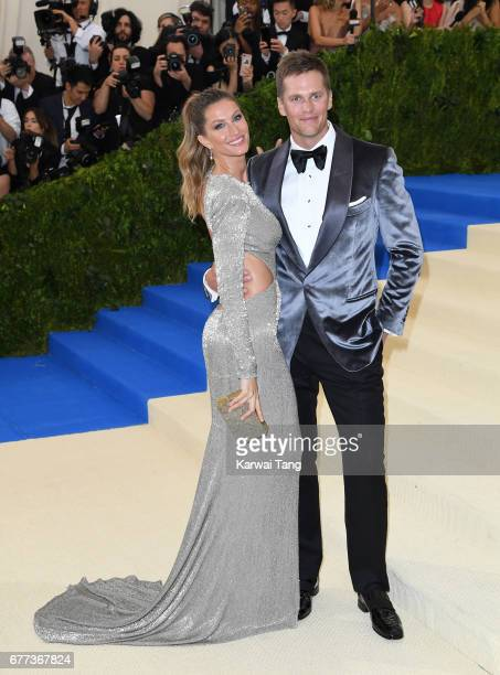 Gisele Bundchen and Tom Brady attend the 'Rei Kawakubo/Comme des Garcons Art Of The InBetween' Costume Institute Gala at the Metropolitan Museum of...