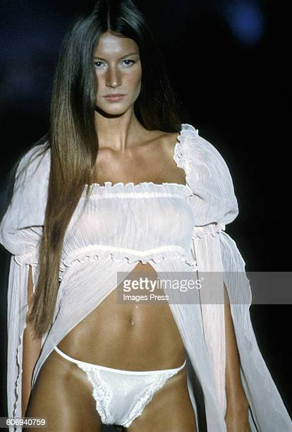Gisele Bundchen at the 1999 Victoria's Secret Fashion show circa 1999 in New York City