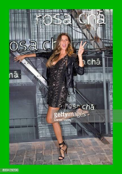 Gisele Bundchen attends Rosa Cha presents Gisele Bundchen on August 16 2017 in Sao Paulo Brazil