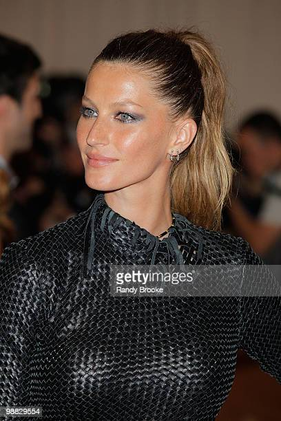 Gisele Bundchen attends the Costume Institute Gala Benefit to celebrate the opening of the 'American Woman Fashioning a National Identity' exhibition...
