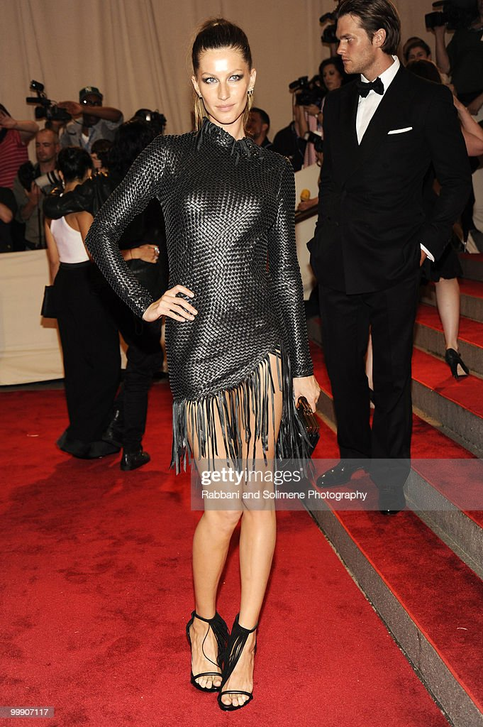 Gisele Bundchen attends the Costume Institute Gala Benefit to celebrate the opening of the 'American Woman: Fashioning a National Identity' exhibition at The Metropolitan Museum of Art on May 8, 2010 in New York City.